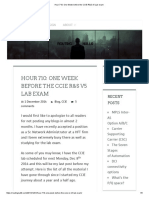 Hour 710_ One Week Before the CCIE R&S v5 Lab Exam
