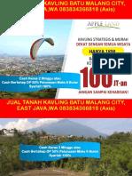 Jual Tanah Kavling Batu Malang City, East Java,Wa 083834366818 (Axis)