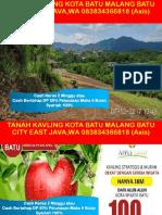 Tanah Kavling Kota Batu Malang Batu City East Java,Wa 083834366818 (Axis)