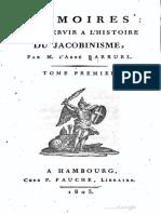 Barruel Augustin - MВmoires pour servir Е l'histoire du jacobinisme Tome 1.pdf