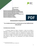 2017. Comunicación Conjunta 2 17. La Construcción de La Convivencia en Las Instituciones Educativas.