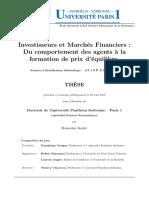 Investisseurs Et Marché Fin
