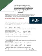 Assignment I - Module 3 (CHE320)