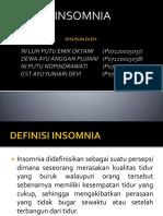 Ppt Insomnia