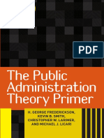 The Public Administration1 Theory Primer