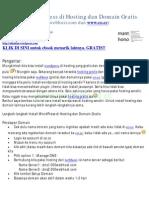 Install WordPress di Hosting dan Domain