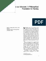 The Nurse as Advocate a Philosophical Foundation.3