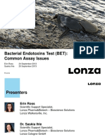 Webinar Presentation – Bacterial Endotoxins Test (BET)_ Common Assay Issues