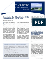 2003 Issue 1 (Spring) - Investigating Out of Specification (OOS) Test Resul