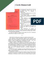 Manifeste Cercle Zimmerwald