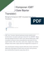 Mengenal Komponen IGBT