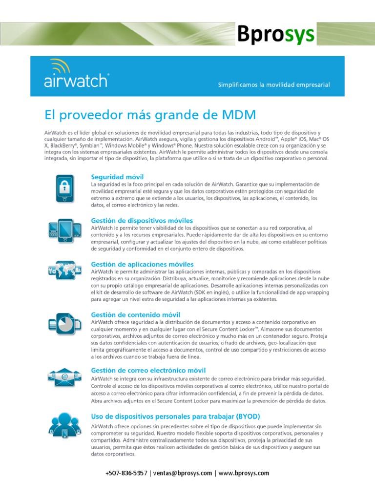 Bprosys- AirWatch MDM