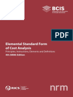 BCIS Elemental Standard Form of Cost Analysis 4th NRM Edition 2012 PDF