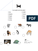 Write the Correct Number Next to the Animal