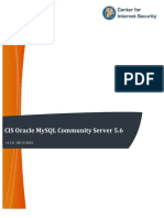CIS Oracle MySQL Community Server 5.6 Benchmark v1.1.0