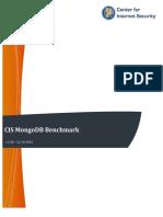 CIS MongoDB Benchmark v1.0.0