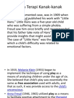 Sejarah Terapi Kanak-kanak