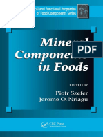 Mineral Components in Food