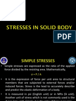 Lec 1 Stresses in Solid Body