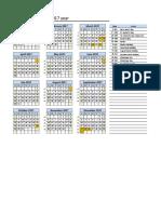 Calendar Exel