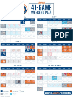 2018 Schedule 41 Game Weekend Plan