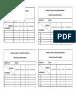 Fichas de Evaluacion Grupal