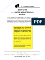 Conveyor Operation Maintenance Manual