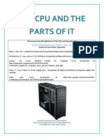 The CPU and Its Parts