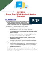 2_27_2018 Meeting Summary-2 Copy