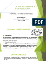 Ecología, Medio Ambiente y Su Contaminación