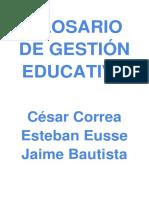 Glosario de Gestión Educativa