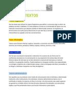 {F.C}TIPOS DE TEXTOS