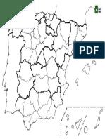 Mapa Mudo Provincias España.Mapa Mudo Espana Provincias