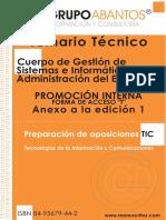 Temario Cuerpo de Gestión de Sistemas e Informática de La Admini