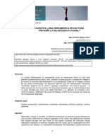 Justicia Restaurativa ¿Una Herramienta Eficaz Para Prevenir la delincuencia juvenil?