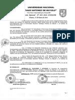 Resolucion Rectoral N° 058-2016-UNASAM