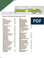 Fiches Techniques Des Opérations d'Entretien Et Dépannage Du Vélo