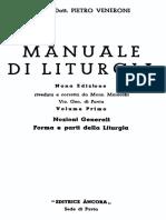 MANUALE DI LITURGIA Vol I. Nozioni Generali