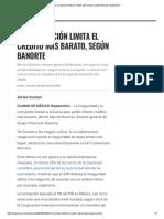 La corrupción limita el crédito más barato, según Banorte