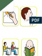 verbos en pictogramas