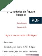 Propriedades Da Água e Soluções