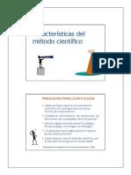 1.- Caracteristicas Del Metodo Cientifico