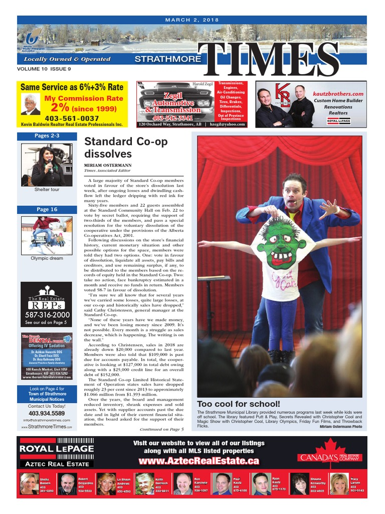 March 2, 2018 Strathmore Times | Cooperative | Business