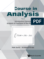 A Course in Analysis - Volume I_ Introductory Calculus, Analysis of Functions of One Real Variable