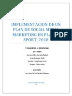Proyecto Taller I- Plan Media Social II