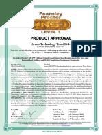 006 - FPNS 874 - Arnco 300XT - Product Lev 3 Certificate