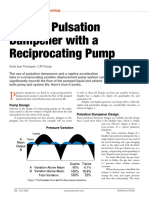 using Pulsation damper with a reciprocating pump