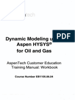 Dynamic Modeling using Aspen HYSYS® for Oil and Gas - Course Number EB1105.06.04