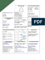 Precalc Survival Sheet