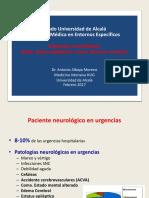 Urgencias Neurológicas. Coma. Muerte Encefálica. 01-02-2018.